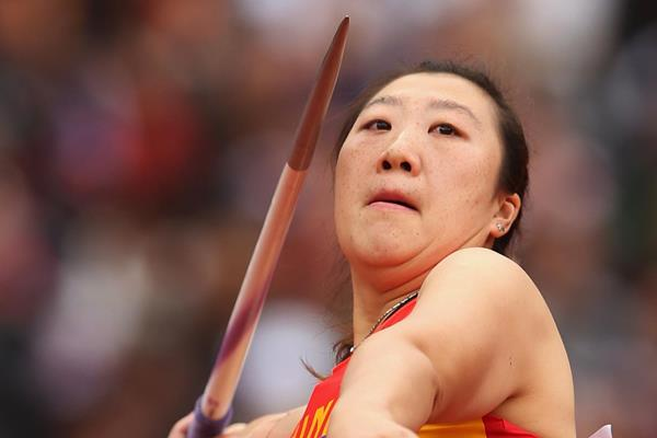 China's Zhang Li in the javelin (Getty Images)