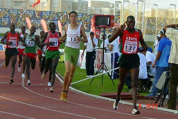 African Jnrs - Godfrey Rono (Ken) winning the 800m 1:47.10mins PB (Mark Ouma)