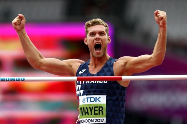 Kevin Mayer in the decathlon high jump at the IAAF World Championships London 2017 (Getty Images)