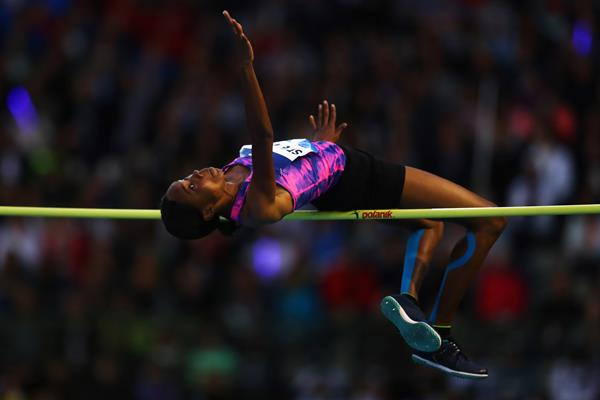 Levern Spencer in the high jump (Getty Images)