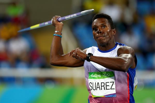 Leonel Suarez in the decathlon javelin at the Rio 2016 Olympic Games (Getty Images)