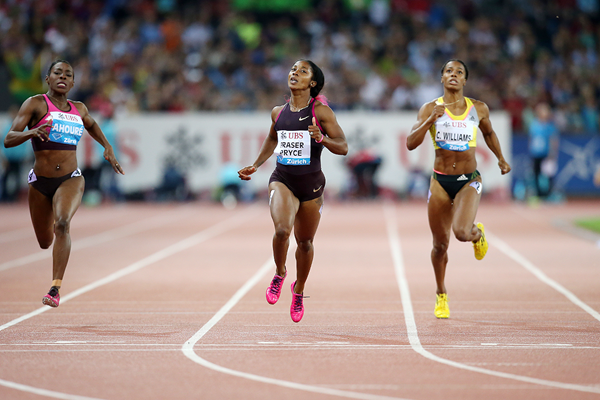 Shelly-Ann Fraser-Pryce wins at the IAAF Diamond League meeting in Zurich (Jiro Mochizuki)