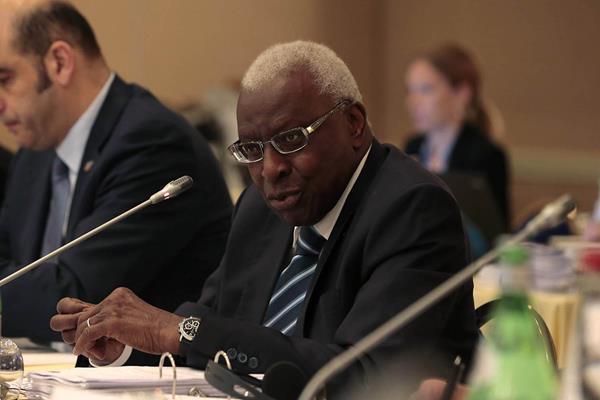 IAAF President Lamine Diack in Monaco (IAAF)