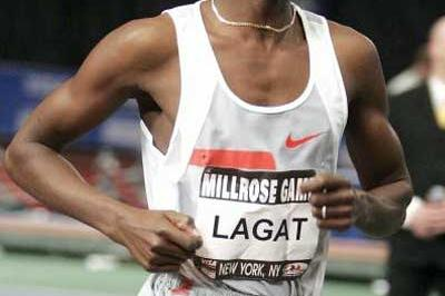 Bernard Lagat on his way to Millrose Games Mile history (Getty Images)