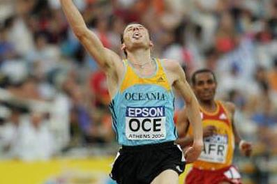Craig Mottram's shock win over Kenenisa Bekele in Athens (Getty Images)