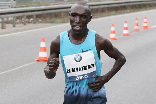 Kenyan Marathon runner Elijah Kemboi ()