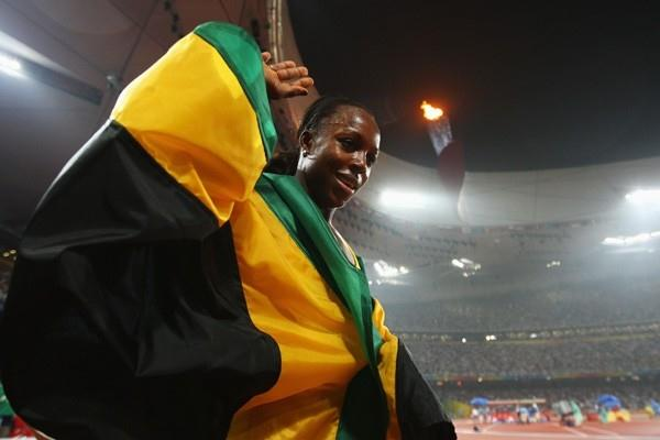 Veronica Campbell-Brown makes it four out of four golds for Jamaica in the sprint events (Getty Images)