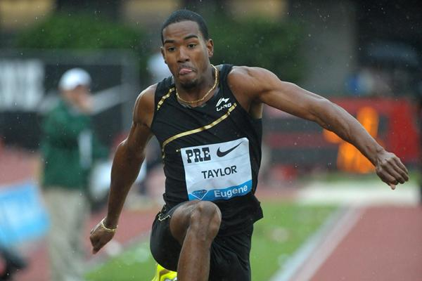 Christian Taylor leaps to 17.62m in Eugene (Kirby Lee - Image of Sport)