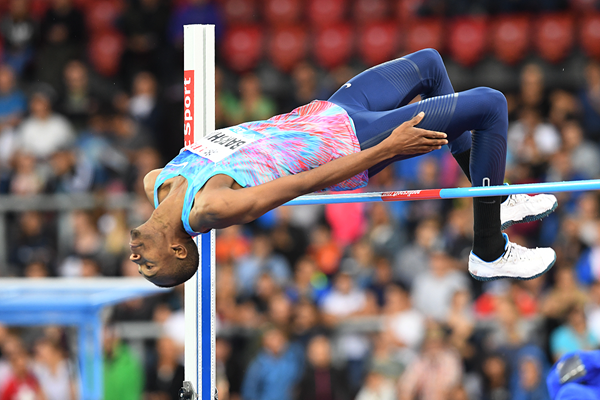 Mutaz Essa Barshim in the high jump at the IAAF Diamond League final in Zurich (Gladys Chai von der Laage)