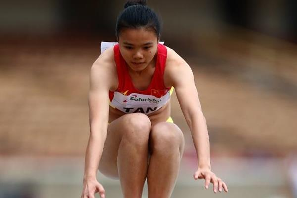Tan Qiujiao in the triple jump at the IAAF World U18 Championships Nairobi 2017 (Getty Images)