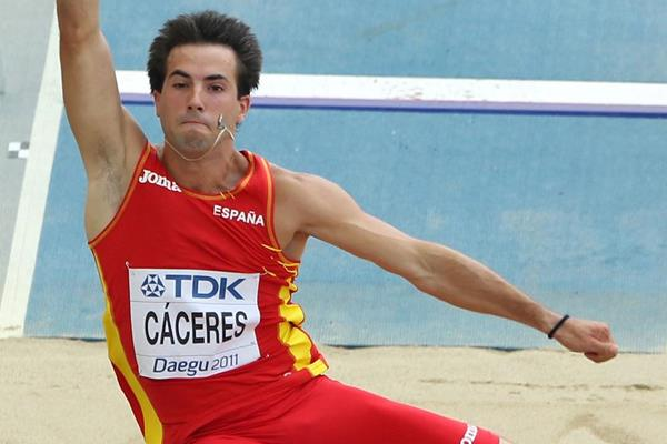 Eusebio Caceres of Spain competing in the Long Jump at the 2011 World Championships in Daegu (Getty Images)