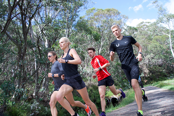 Angelika Cichocka (left) training in Falls Creek, Australia (Ewa Facioni)