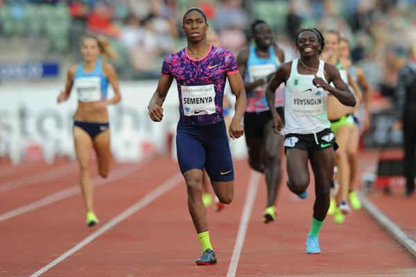 Caster Semenya cruising to victory in Oslo (Mark Shearman)