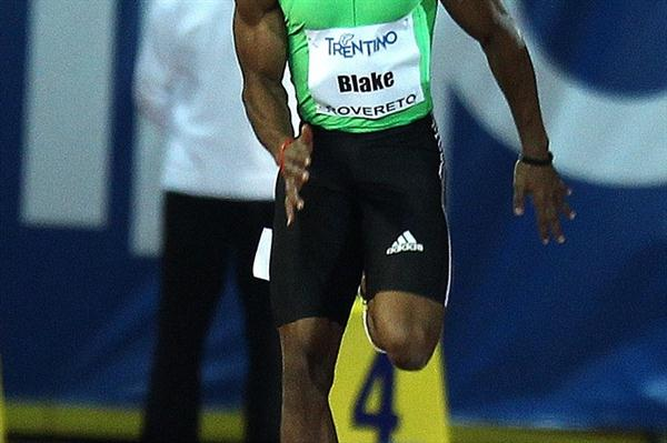 Yohan Blake beats the wind and chill to take the Rovereto 100m (Giancarlo Colombo)