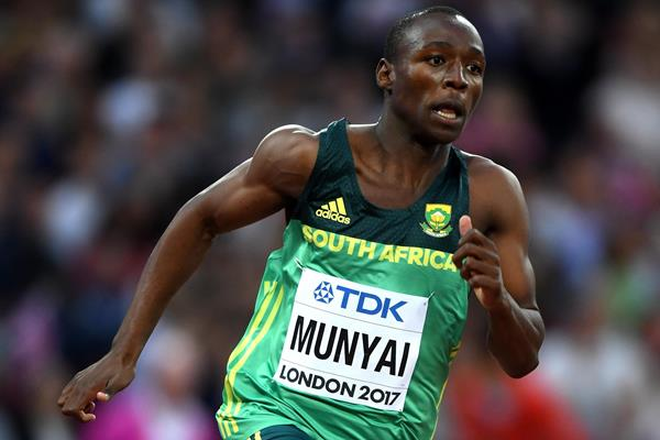 Clarence Munyai in the 200m at the IAAF World Championships London 2017 (Getty Images)