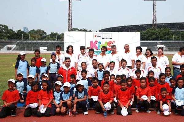 IAAF / Nestlé Kids' Athletics event on 11 October in Stadium Madya, Senayan. (RDC Jakarta)