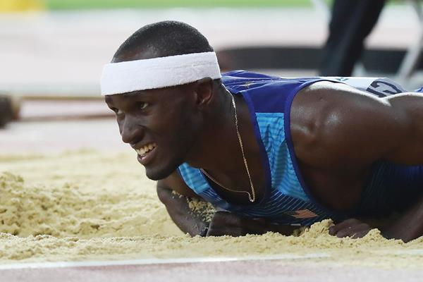 Will Claye in action in the men's triple jump final at the IAAF World Championships London 2017 (Getty)