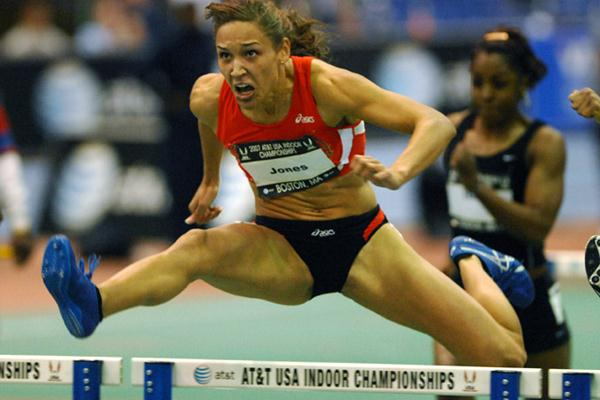 Lolo Jones at the US Indoor Champs (Kirby Lee)