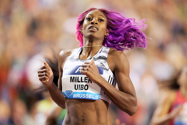 Shaunae Miller-Uibo wins the 200m at the IAAF Diamond League final in Brussels (Gladys Chai von der Laage)