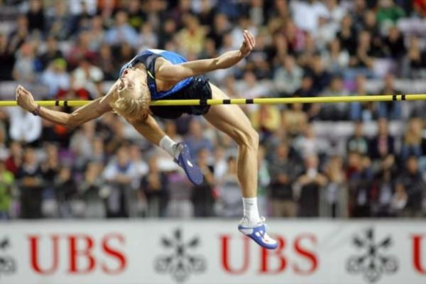 Andrey Silnov of Russia jumping in Lausanne (Olivier ALLENSPACH/Switzerland)
