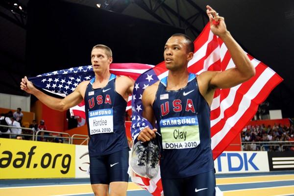 Bryan Clay and Trey Hardee both of USA win gold and silver in the Heptathlon (Getty Images)