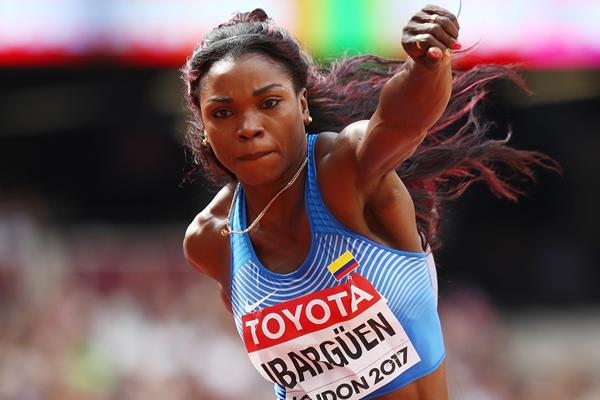 Caterine Ibarguen in the triple jump at the IAAF World Championships London 2017 (Getty Images)