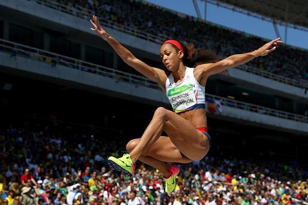 Katarina Johnson-Thompson in the heptathlon long jump at the Rio 2016 Olympic Games (Getty Images)
