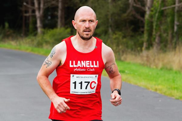 Jimmy Watkins at the Welsh Relay Championships (Paul Stillman)
