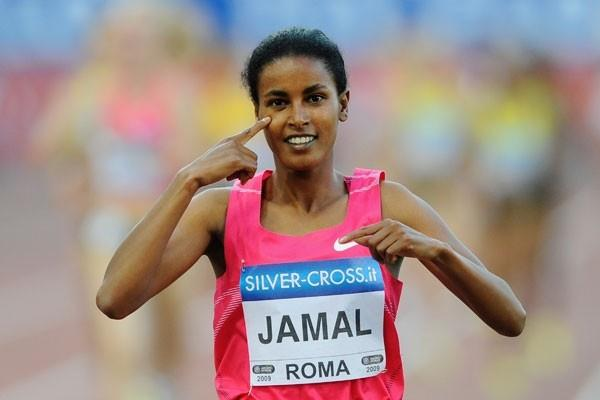 Maryam Yusuf Jamal runs a world leading time in the 1500m, her ninth sub-four-minute clocking (Getty Images)