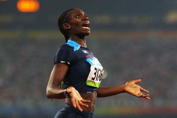 Dawn Harper is in disbelief after winning the Olympic 100m hurdles title (Getty Images)