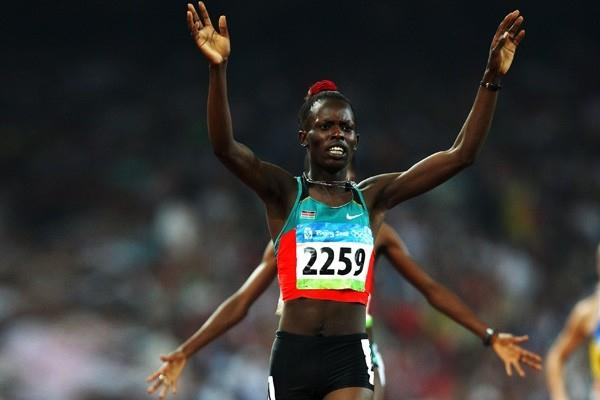 Pamela Jelimo produces a superhuman effort to destroy the field in the 800m (Getty Images)