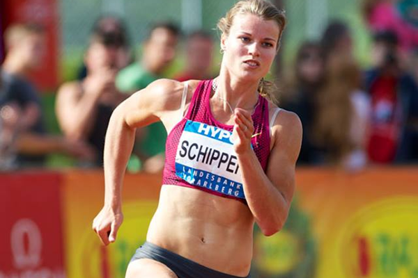 Dafne Schippers in the heptathlon 200m at the Hypo Meeting in Gotzis (Organisers / Gunter Kram)