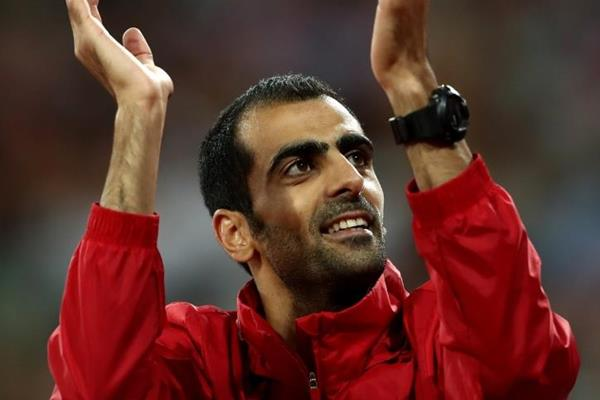 High jump bronze medallist Majd Eddin Ghazal at the IAAF World Championships London 2017 (Getty Images)