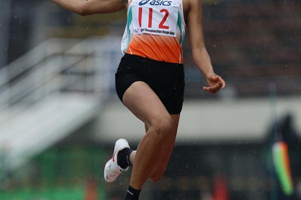 Mayookha Johny of India sails to Asian champs gold in Kobe (Yohei KAMIYAMA/Agence SHOT)