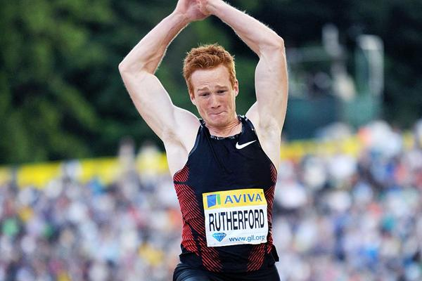 British long jumper Greg Rutherford in action at the London Diamond League (Mark Shearman)