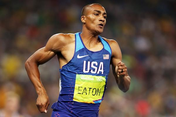 Ashton Eaton in the decathlon 400m at the Rio 2016 Olympic Games (Getty Images)