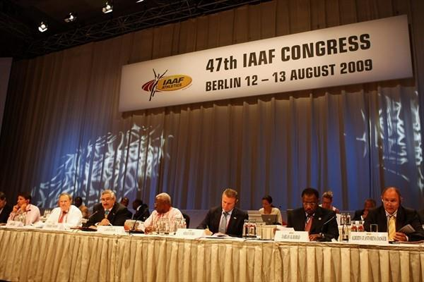 Members of the IAAF Council at the 47th Congress in Berlin (Getty Images)