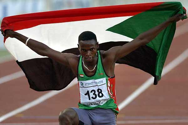 Abubaker Kaki after his All Africa Games victory in Algiers (AFP / Getty Images)