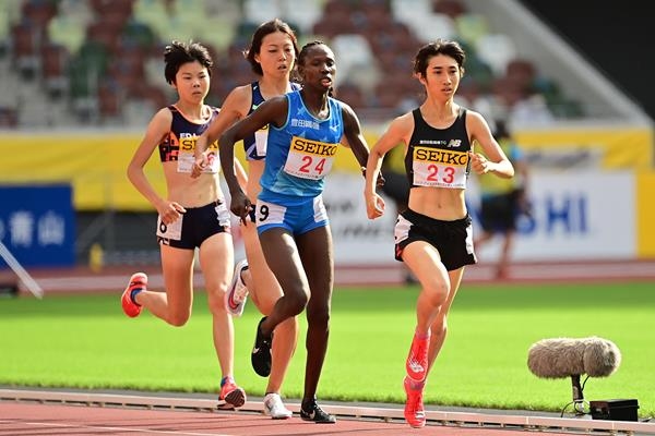 Nozomi Tanaka in action at the Seiko Golden Grand Prix in Tokyo (Getty Images)