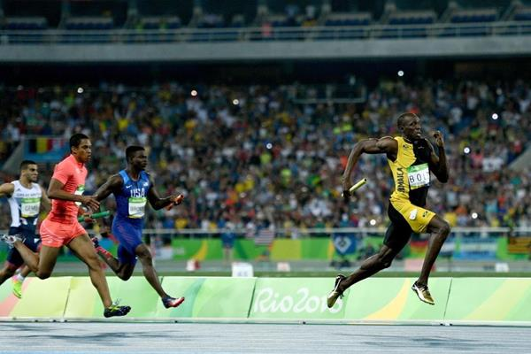 Usain Bolt anchors Jamaica in the 4x100m at the Rio 2016 Olympic Games (Getty Images)