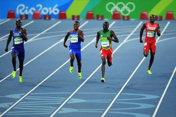 Kirani James and LaShawn Merritt in the 400m at the Rio 2016 Olympic Games (Getty Images)