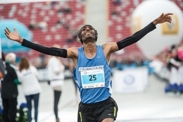 Polish distance runner Yared Shegumo (Polish athletics federation)