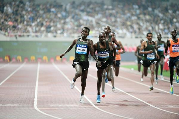 Birhanu Balew wins the 5000m at the IAAF Diamond League meeting in Shanghai (Errol Anderson)