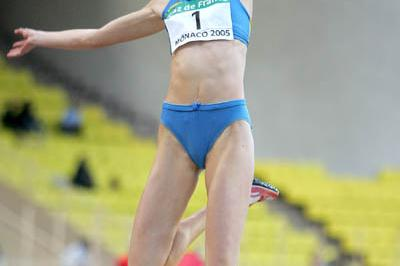 Tatyana Kotova of Russia takes the Long Jump at the World Athletics Final (Getty Images)