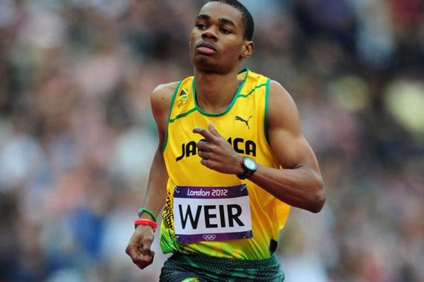 Warren Weir of Jamaica competes in the Men's 200m Round 1 Heats on Day 11 of the London 2012 Olympic Games at Olympic Stadium on August 7, 2012 (Getty Images)