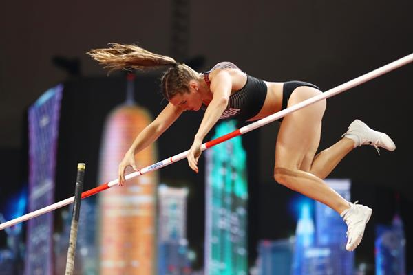 Alysha Newman at the IAAF World Athletics Championships Doha 2019 (Getty Images)