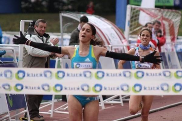 Sara Moreira takes the win at the Elgoibar XC (Alfambra Fundación ANOC)