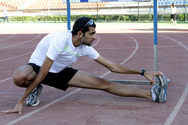 Majd Eddin Ghazal training at Damascus stadium in 2012 (AFP / Getty Images)