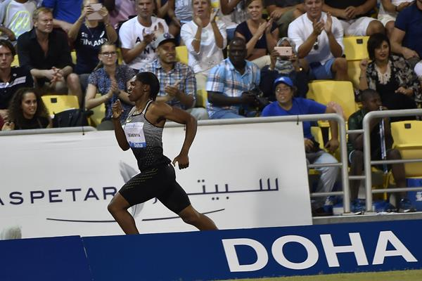 Caster Semenya at the 2016 IAAF Diamond League in Doha (Hasse Sjogren)