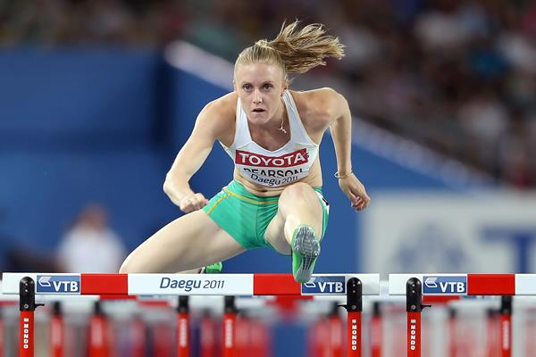 Sally Pearson en route to the 2011 world title in Daegu (Getty Images)